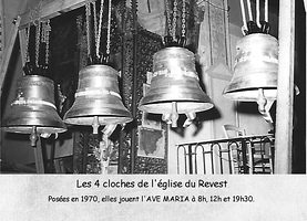 Les 4 cloches de l'Eglise