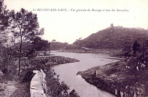 lac-barrage-vers village-revest-tour