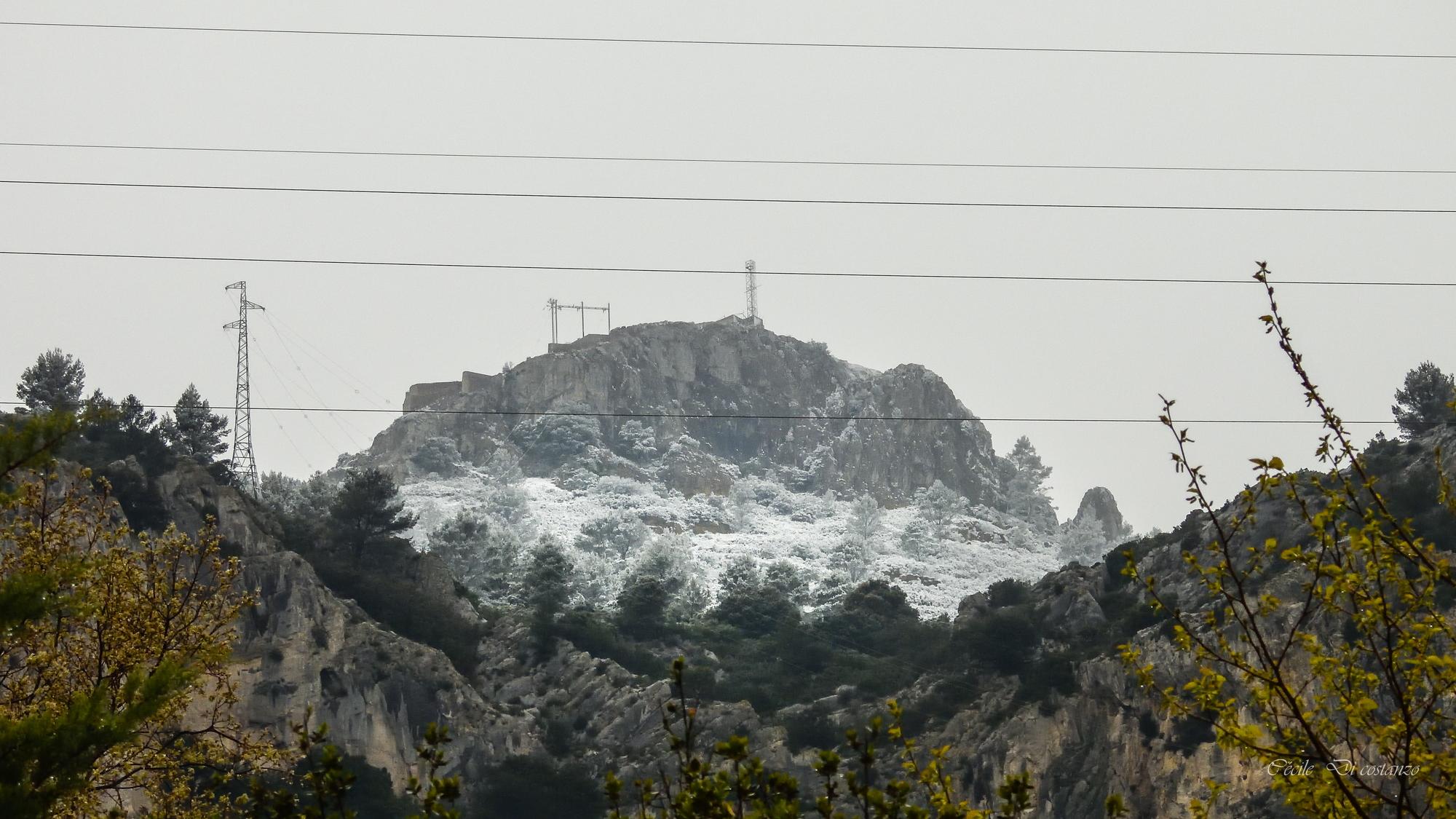 Il a neigé sur le Mont Caume
